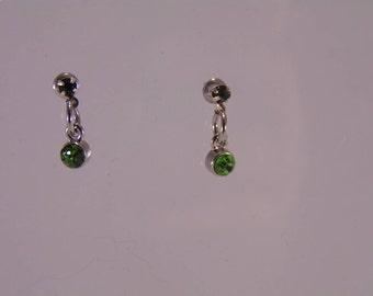 Birthstone stud earrings- Peridot