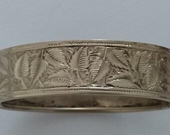 Vintage engraved bangle