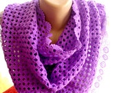 Purple shawl Crochet  purple shawl accessories gift for her