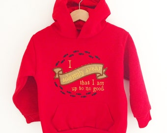 Harry Potter I solemnly swear that I am up to no good on front Mischief Managed on the reverse  hoodie