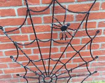 Vintage Cast Iron Spider Web with Spider Window - Door Fence
