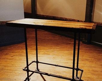 Custom Reclaimed Wood Bar Table