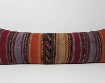 Extra Long Decorative Lumbar Pillow : extra long lumbar pillow ? Etsy