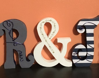 Custom wood letters. Wedding centerpiece. Custom wedding sign. Wedding letters. Bridal shower decor. Wood letters.