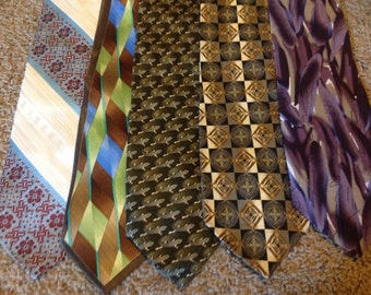 Lot of Five Long Neck Ties