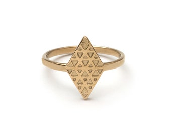 Tri Reflection Sacred Geometry Ring
