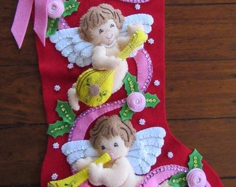 Bucilla Christmas Cherubs - Completed
