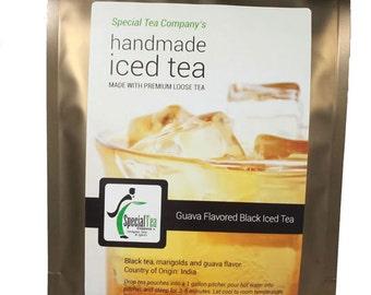 Guava Flavored Black Iced Tea, Makes 1 Gallon