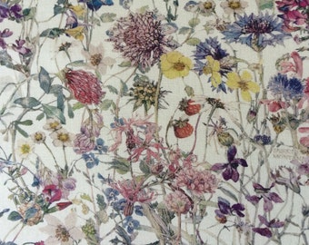 WILD FLOWERS A 1.00 Metre by Liberty  on Tana Lawn  100  x 136 cms (39 ins x 54 ins)