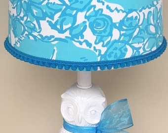 Lilly Pulitzer Lampshade in Shorely Blue She's a Fox Lamp shade ONLY!!