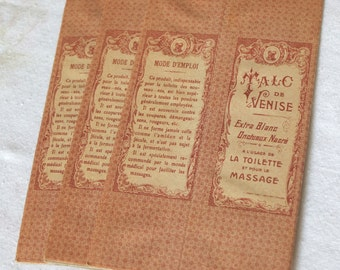 Antique vintage new old stock set of three Belle epoque french talc boxes