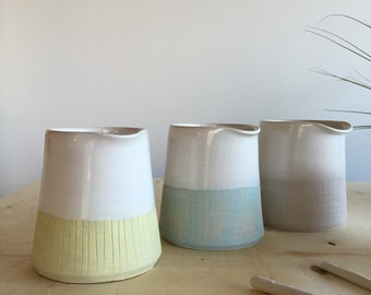 stoneware pitcher - wheel thrown