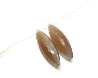 6x19 mm Coffee Moonstone Dew Drop