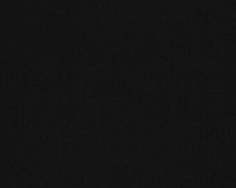 Black Kona Solid Fabric by Robert Kaufman. 100% cotton. Kona Cotton.  K001-1019