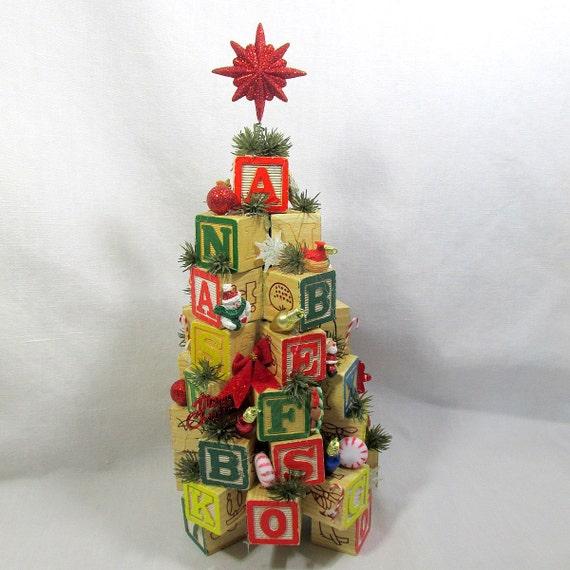 Items similar to alphabet blocks numbers christmas tree