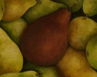 Pile O' Pears: Original Acrylic Painting