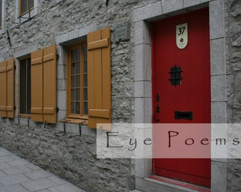 Fine art photography red door pop of color photograph