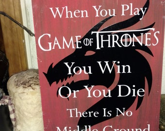 Game of thrones Inspired Dragon sign