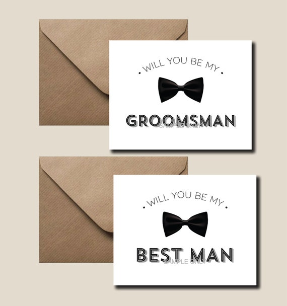 Will you be my best man card will you be my groomsman ring il570xn junglespirit Image collections