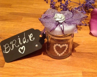 Wedding Favour Jars (With Place Name Tag)
