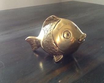 Vintage brass blow fish
