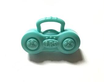 Up-cycled toy radio ring, boom box ring