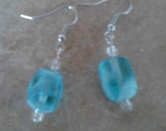 Clouded Blue Earrings