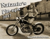 2017 Pin-up calendar featuring retro pin-up models on Vintage Motorcycles and Hot Rods