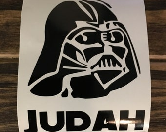 Darth Vader with name Decal | Darth Vader Yeti Decal | Darth Vader RTIC Decal | Darth Vader Car Decal | Customized Darth Vader Decal