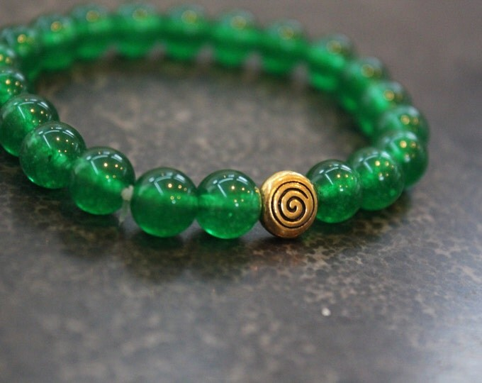 Jade Mala Meditation Bracelet - Infinite Wisdom, Creativity and Peace - Yoga Inspired Jewellry - GIft for Her - Stocking Stuffer