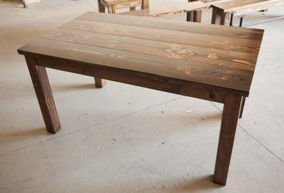 5 Farmhouse Table Solid Wood Farmhouse Dining Table