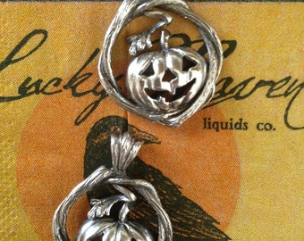 Fall Jack-o-Lantern Pumpkin Pendant