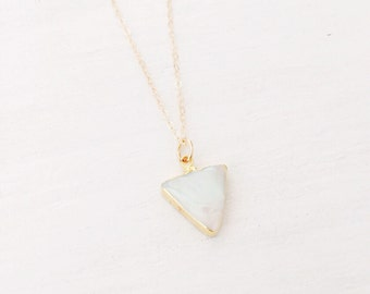Pearl Triangle Necklace