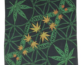 Pot Leaf Flower Of Life Bandana