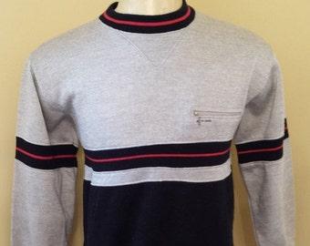30% OFF SALE Vintage Pierre Cardin 1980's Sweatshirt - Sweater - Vintage Sweatshirt - Crewneck Sweatshirt (Small)