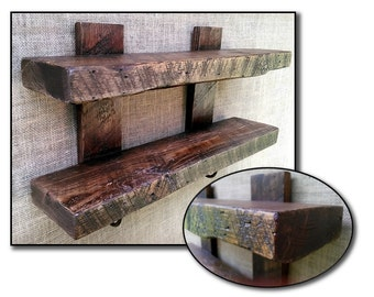 Reclaimed 1890s Wood Spa Bath Towel Holder Rustic Display Shelf Metal Hooks Walnut Stained Beach Cottage Farmhouse Wall Hanging Storage Unit