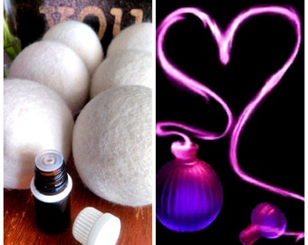 Love Spell  (VS)Inspired Scent, Wool dryer balls, Wool dryer ball scent, Essential oil, Natural Alternatives