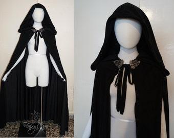 Medieval black cape