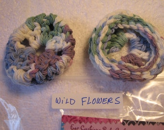 WILD FLOWERS Ear Pads/Cushions/Cookies for Phone Headset, Call Center, Hand-made, NEW.