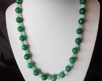 Emerald and Aquamarine Necklace