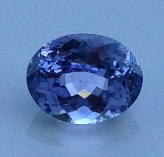 Periwinkle Tanzanite 2.50 Carat Oval 7.25x9.25mm Natural Gemstone with Video
