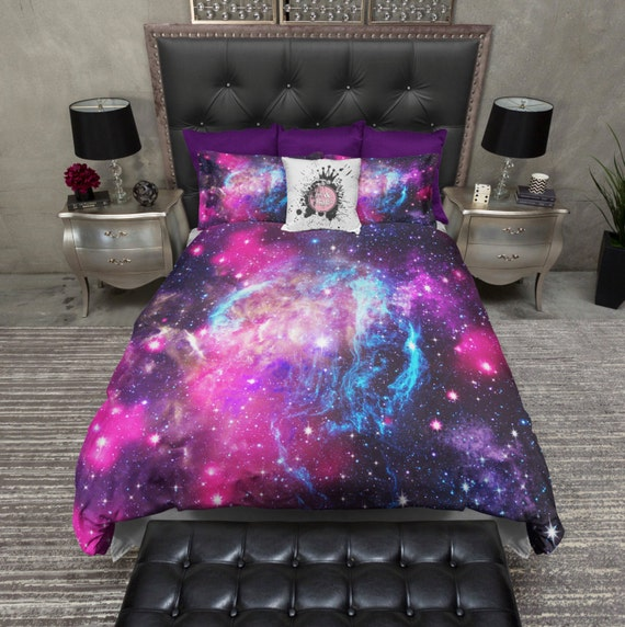 Lightweight Galaxy Bedding Cosmos Duvet Cover & By InkandRags