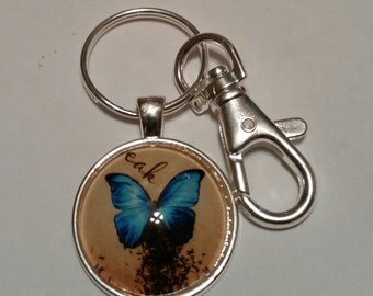 KeyChain  Blue Butterfly