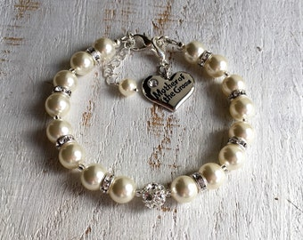 Mother-of-the-Groom gift from Bride Mom Mother-of-the-Groom gift from Son Mother-of-the-Groom Bracelet Wedding Gifts for Mother-in-Law Gift