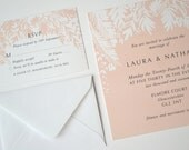 Blush Pink 'Canopy' Wedding Stationery - Pretty, vintage, watercolor, modern, boho, rustic, save the date, invite, rsvp