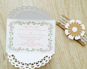 Spring Like Handmade Wedding Invitation