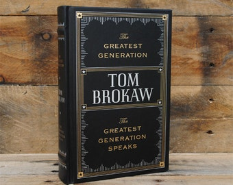 Book Safe - The Greatest Generation - Leather Bound Hollow Book Safe