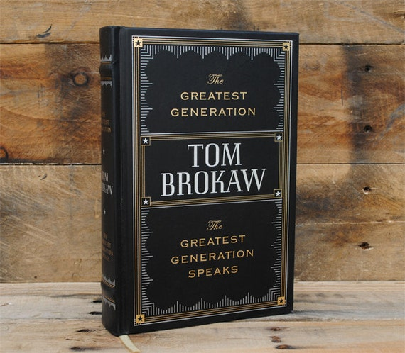 Hollow Book Safe - The Greatest Generation - Leather Bound