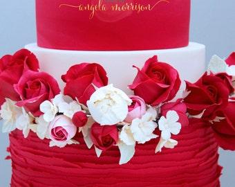 Set of 12 Sugar Red Roses.