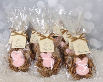 Bunny Soap Favor, Pastel Soap, Childrens Soap, Scented Soap, Handcrafted Soap, Birthday Favor, Easter Gift, Set of 12 Favors